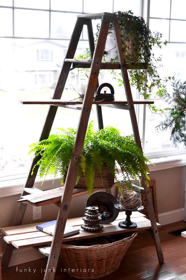 ladder plant stand via Funky Junk Interiors-015